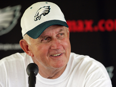 Former Eagles defensive coordinator Jim Johnson died today after a battle with cancer.  (Yong Kim / Staff Photographer)