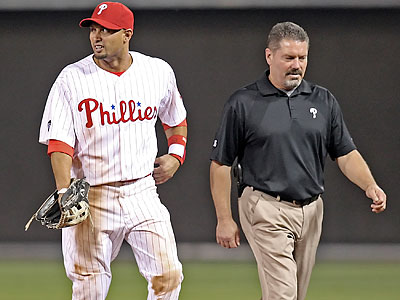 Phillies Centerfielder Shane Victorino is currently on the 15-day disabled list. (Steven M. Falk / Staff file photo)