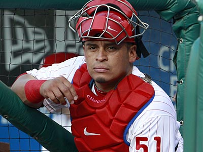 Doctors have cleared Carlos Ruiz to take off his walking boot starting Monday. (Yong Kim/Staff Photographer)