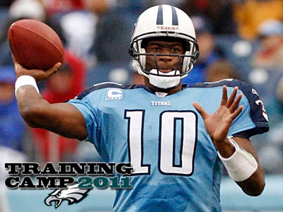 Vince Young will report to Bethlehem on Saturday. (John Russell/AP)