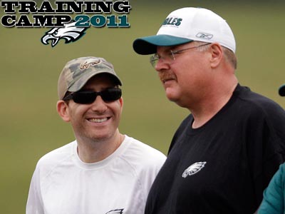 Howie Roseman and Andy Reid kept rumors of signings quiet. (David Maialetti/Staff Photographer)
