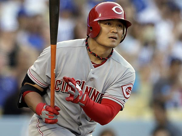 Cincinnati Reds center fielder Shin-Soo Choo. (Reed Saxon/AP)