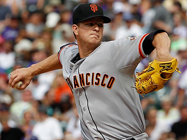 Giants starting pitcher Matt Cain. (David Zalubowski/AP)