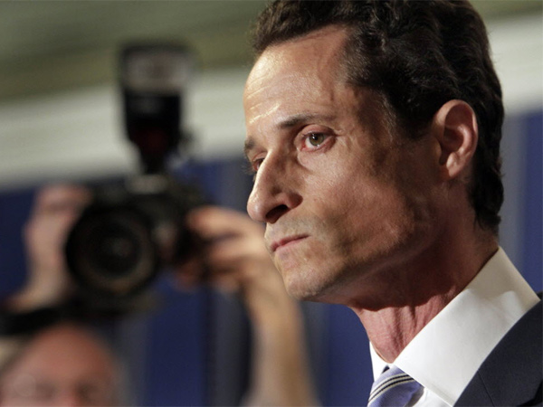 New York City mayoral hopeful Anthony Weiner plunged to fourth place among Democrats in the first poll taken since he admitted to having illicit online exchanges with women even after he resigned from Congress amid a sexting scandal. (AP Photo)