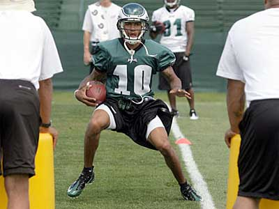 DeSean Jackson participated in practice today, but did not speak with the media. (Yong Kim / Staff Photographer)