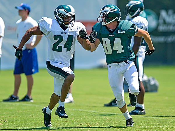 Eagles cornerback Bradley Fletcher and wide receiver Will Murphy. (Clem Murray/Staff Photographer)
