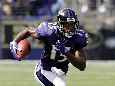 Kelley Washington caught 34 balls for 431 yards and two touchdowns last season in Baltimore. (AP file photo / Rob Carr)