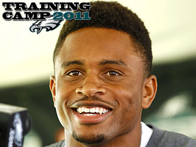"Recently signed corner Nnamdi Asomugha told reporters that he´s ""always admired"" Asante Samuel. (Yong Kim/Staff Photographer)"