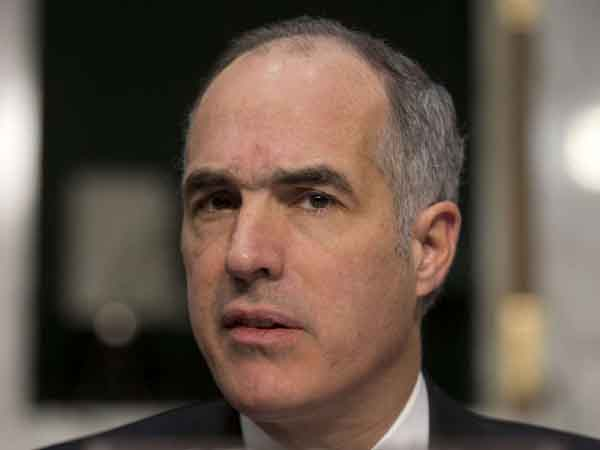 "Allowing same-sex marriage in Pennsylvania ""would be a measure of progress,"" U.S. Sen. Bob Casey said. (AP Photo/ Evan Vucci)"