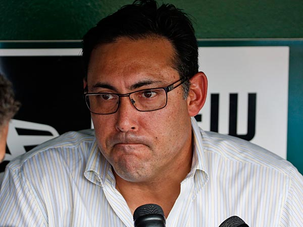 Phillies general manager Ruben Amaro pauses while speaking during a media availability before a baseball game against the Washington Nationals at Nationals Park Thursday, July 31, 2014, in Washington. (Alex Brandon/AP)