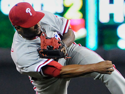Michael Martinez has only played in 16 games for the Phillies this season. (Jim Mone/AP Photo)