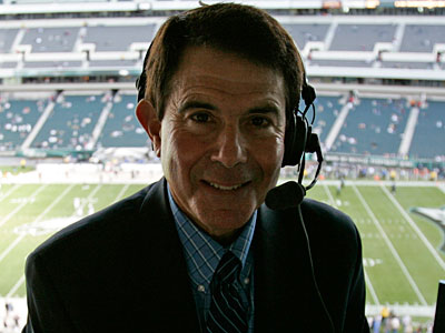 Merrill Reese has been the play-by-play voice of the Eagles since 1977. (Michael Perez/Staff file photo)