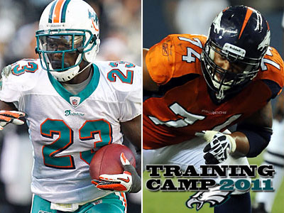 The Eagles have signed running back Ronnie Brown and offensive tackle Ryan Harris to one-year deals. (AP Photos)