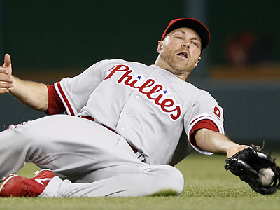 Nate Schierholtz will start in right field for the Phillies. (AP Photo/Carolyn Kaster)