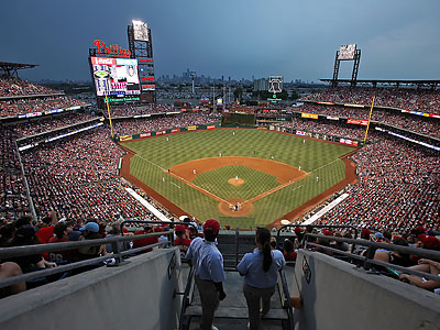 Another sellout crowd watches the Phillies in action at Citizens Bank Park. (Steven M. Falk/Staff Photographer)
