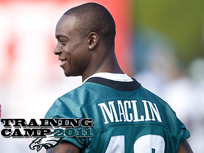 Jeremy Maclin has not practiced with the team at training camp. (Ed Hille/Staff Photographer)