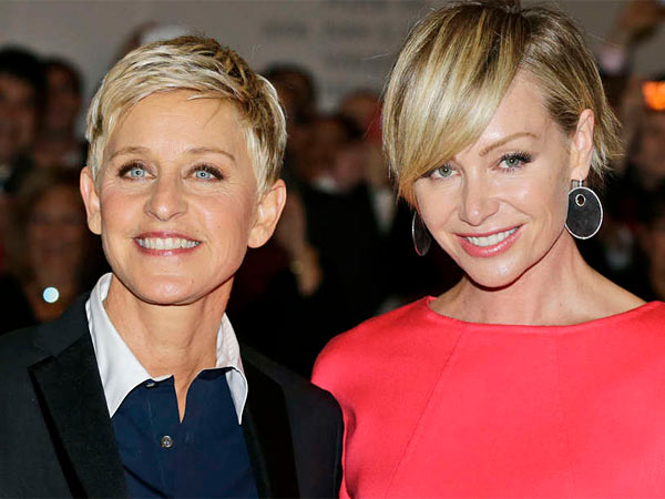 Ellen Degeneres and wife Portia De Rossi. (File photo)