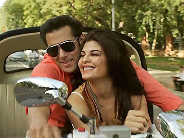 Salman Khan and Jacqueline Fernandez on the sets of movie 'Kick.' (Courtesy photo.)