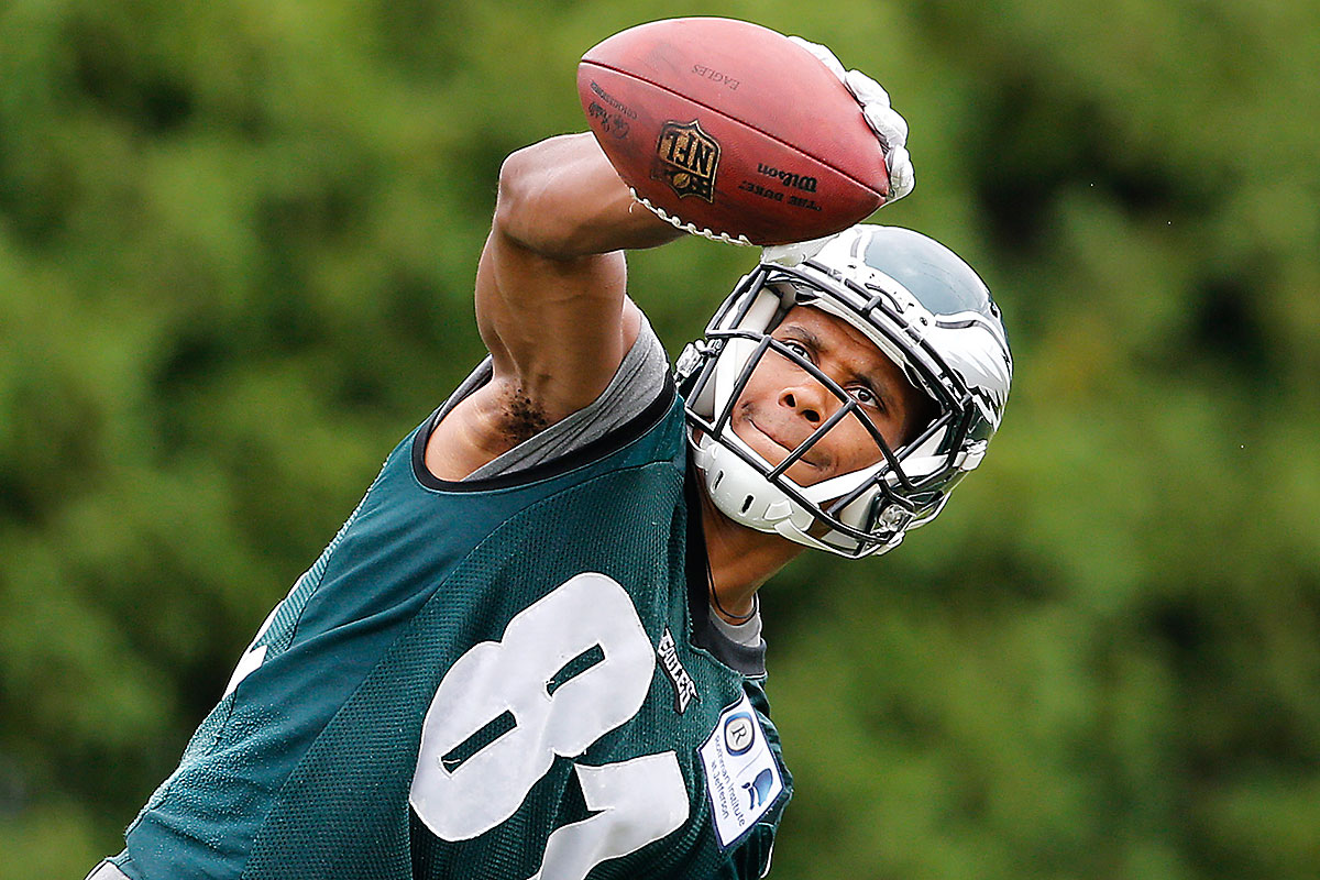 back at practice  jordan matthews aims to catch up quickly
