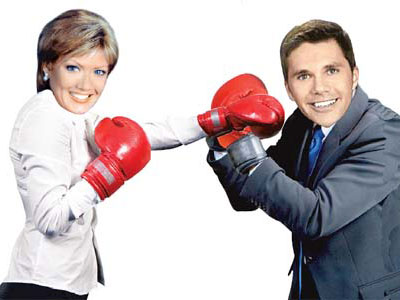 Cecily Tynan and Adam Joseph are putting on the gloves. (Daily News Photo Illustration)