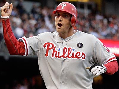 Phillies outfielder Hunter Pence says the Phillies will have something to prove in 2012. (Ben Margot/AP)