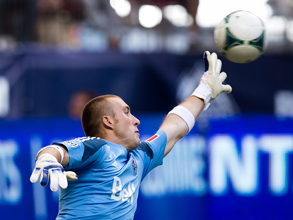 Brad Knighton was Vancouver´s starting goalkeeper for much of this year, but the Whitecaps signed David Ousted from Denmark to take his job. (Darryl Dyck/Canadian Press/AP file photo)