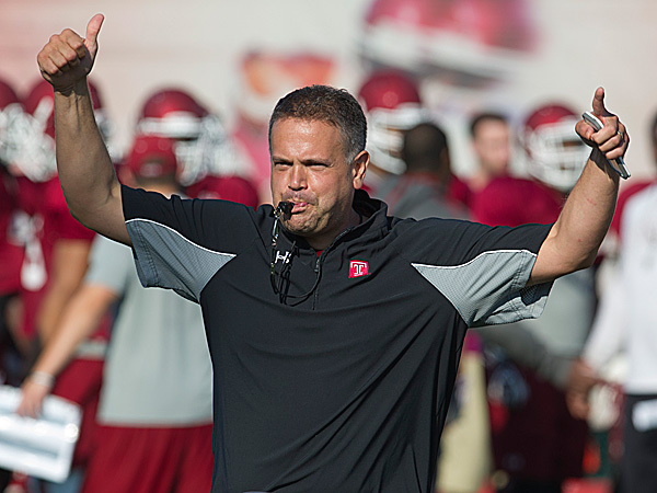 Temple head coach Matt Rhule. (Clem Murray/Staff Photographer)