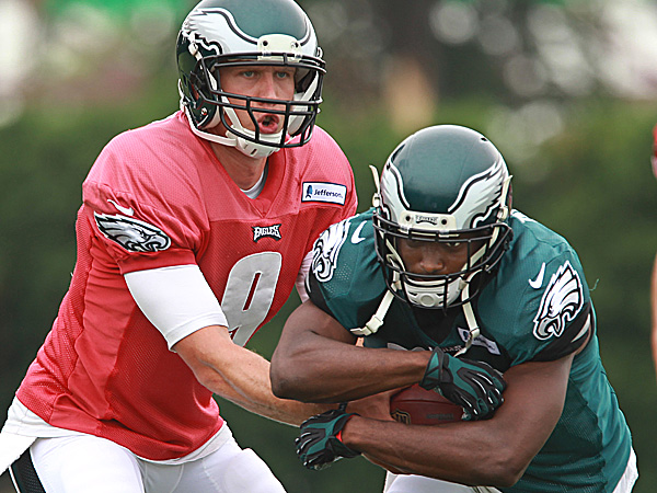 Eagles quarterback Nick Foles and running back LeSean McCoy. (Michael Bryant/Staff Photographer)