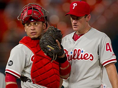 Roy Oswalt allowed two earned runs through 6 1/3 innings in last night´s game against the Marlins. (AP Photo / J. Pat Carter)
