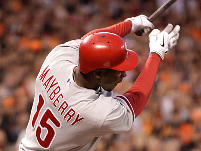 John Mayberry Jr. has had an up-and-down season with both the Phillies and Lehigh Valley. (Ben Margot/AP Photo)