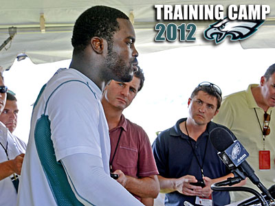 """Walking off that field, that's when it hits you,"" Michael Vick said. (Photo by Tom Kelly IV)"