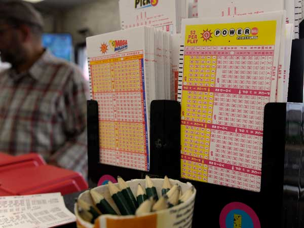 Powerball lottery forms (AP photo)