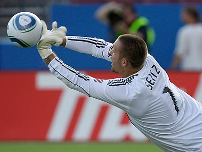 Goalkeeper Chris Seitz and the Union took on the Colorado Rapids today. (AP file photo / Tony Gutierrez)