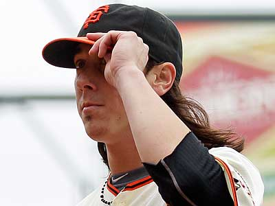 Tim Lincecum allowed one run in two starts against the Phillies this season, winning both. (Eric Risberg/AP)
