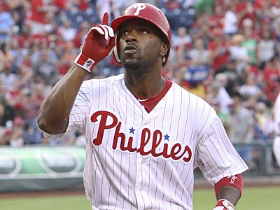Jimmy Rollins led off the bottom of the first with a home run on Thursday against the Braves. (Steven M. Falk/Staff Photographer)