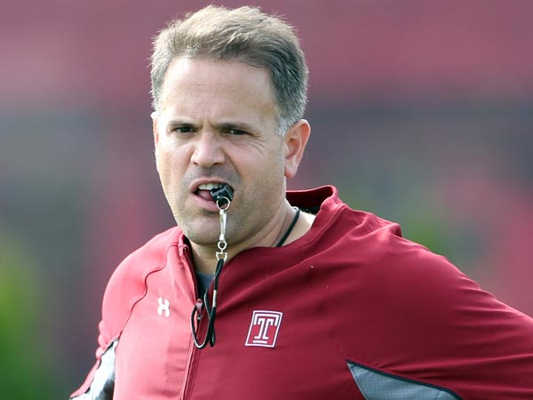 Temple football coach Matt Rhule. (Yong Kim/Staff Photographer)