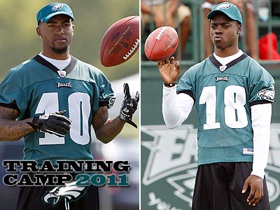 DeSean Jackson (left) said that signing Steve Smith is insurance for Jeremy Maclin (right). (Yong Kim/Staff Photographer)
