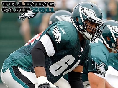 Ryan Harris appears to be the Eagles´ starting right tackle with Winston Justice is out. (Yong Kim/Staff Photographer)