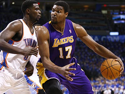 "Doug Collins called Andrew Bynum ""a big man who can score in the paint, rebound and block shots."" (AP file photo)"