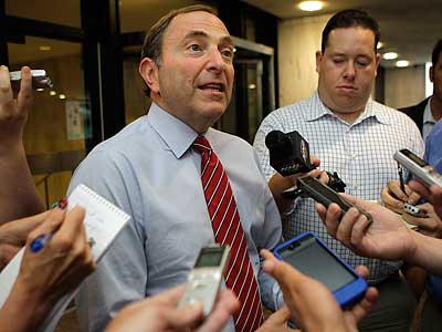 """We need to get to making a deal and doing it soon,"" NHL commissioner Gary Bettman said recently. (Kathy Willens/AP)"