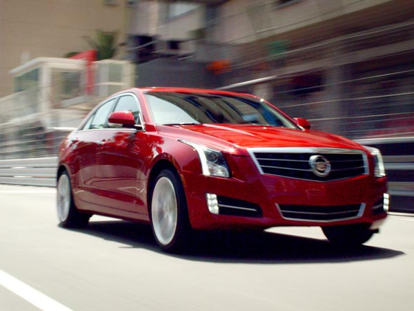 Attached is a photo of the 2013 Cadillac ATS, which was among vehicles recalled by General Motors on Friday. Its front seat belts may not provide enough protection in a collision, the company said. (GM photo)