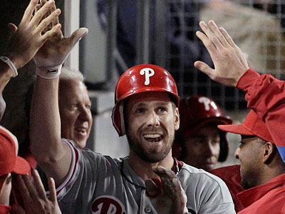 Cliff Lee hit his second home run of the season in the seventh inning. (Jae C. Hong/AP Photo)