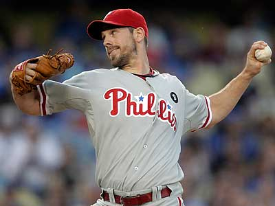 Cliff Lee and the Phillies hold a 3.5-game lead over the Red Sox for the best record in baseball. (Jae C. Hong/AP)