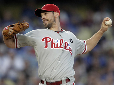 Cliff Lee pitched eight shutout innings against the Dodgers on Tuesday. (AP Photo/Jae C. Hong)