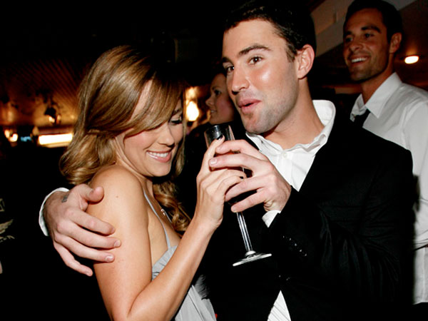 """Lauren Conrad, left, and Brody Jenner pose together during MTV´s """"The Hills"""" season 3 finale party in Los Angeles on Monday, Dec. 10, 2007. (AP Photo/Matt Sayles)"""