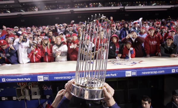 World Series Trophy Image courtesy of Philly.com