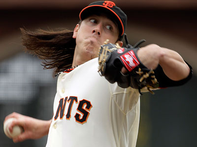 Giants pitcher Tim Lincecum will face the Phillies on Monday. (Eric Risberg/AP Photo)