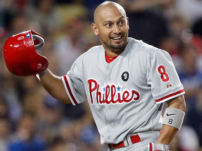 Shane Victorino was the only player suspended from a benches-clearing brawl with the Giants. (Alex Gallardo/AP Photo)