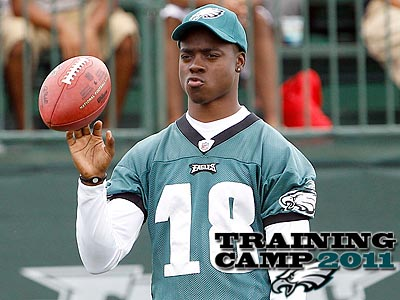Jeremy Maclin has not practiced with the camp at training camp. (Yong Kim/Staff Photographer)