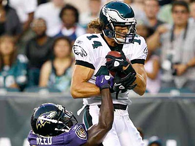 Riley Cooper could face competition from rookie Marvin McNutt to make the team next season. (Yong Kim/Staff file photo)